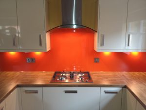 orange splashback