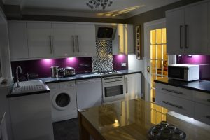 Purple Kitchen All Glass and Glazing