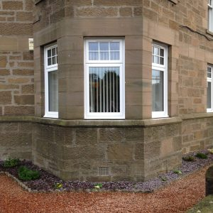 Bay window in white upvc
