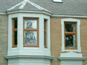upvc windows golden oak